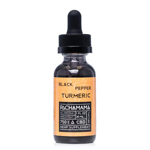 Pachamama CBD Black Pepper Turmeric Tincture 750mg - Ultimate CBD
