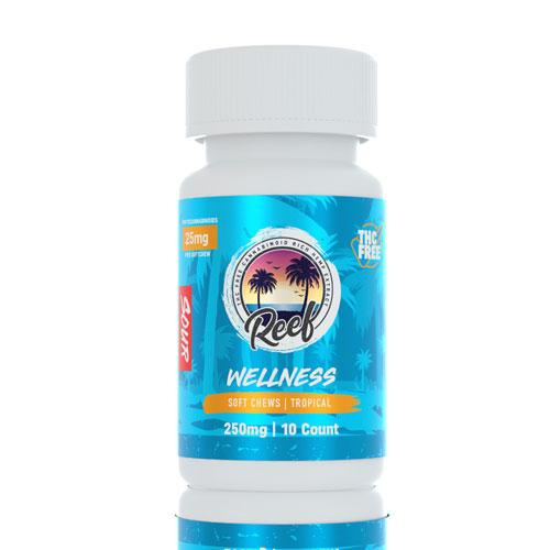 Reef CBD Tropical Sour Gummies 250mg - Ultimate CBD