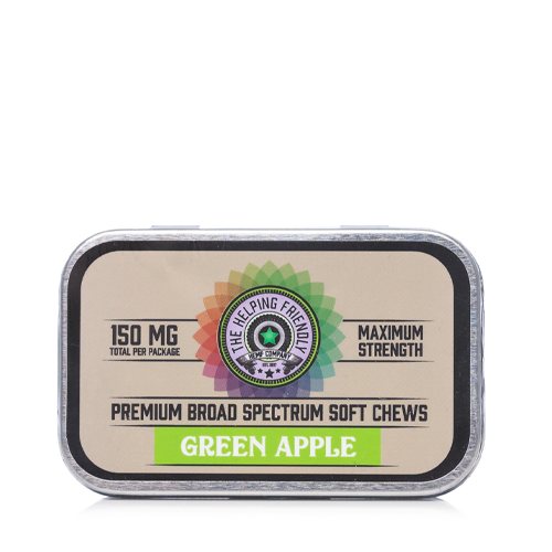 The Helping Friendly Green Apple Soft Chews 150mg - Ultimate CBD