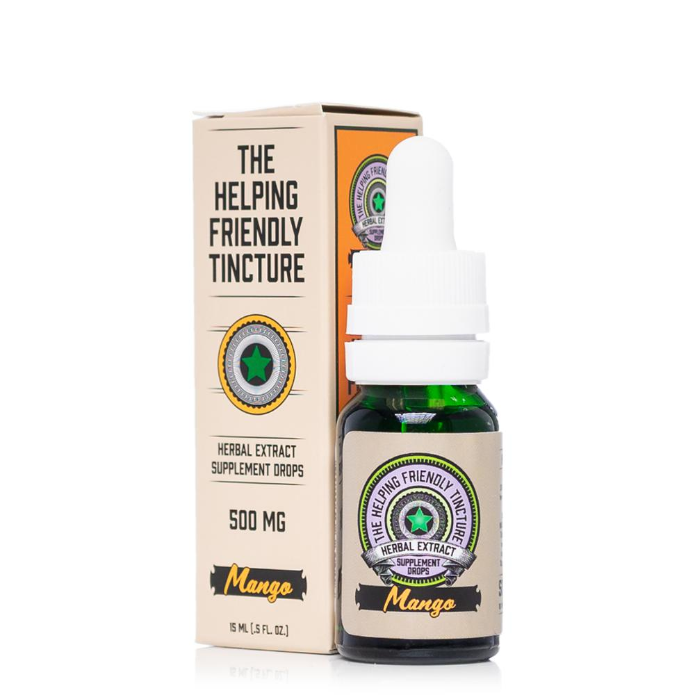 The Helping Friendly Mango Herbal Extract Tincture 500mg - Ultimate CBD