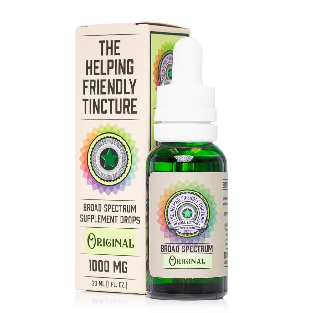 The Helping Friendly Original Tincture 1000mg - Ultimate CBD
