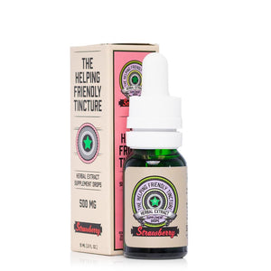 The Helping Friendly Strawberry Herbal Extract Tincture 500mg - Ultimate CBD