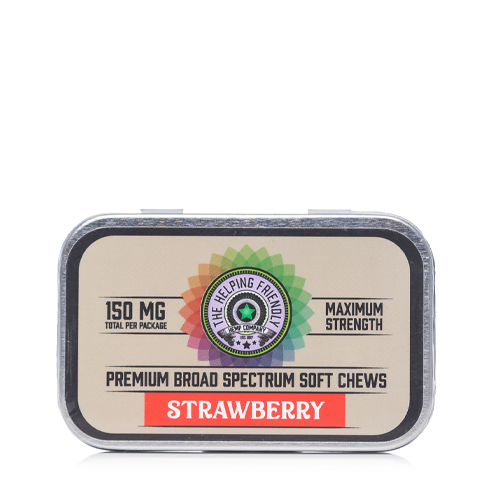 The Helping Friendly Strawberry Soft Chews 150mg - Ultimate CBD