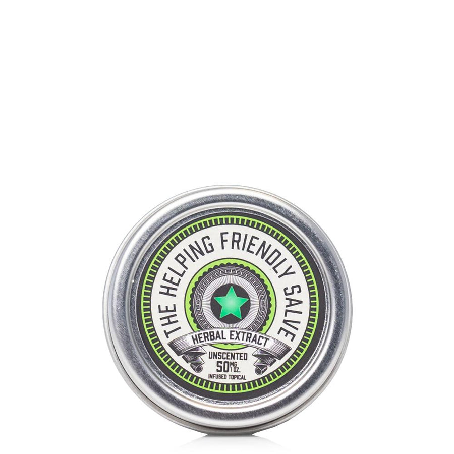 The Helping Friendly Unscented Salve 50mg - Ultimate CBD