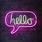 Hello wall sign