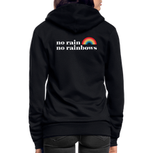Load image into Gallery viewer, No Rain No Rainbows Zip Hoodie - black