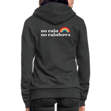 Load image into Gallery viewer, No Rain No Rainbows Zip Hoodie - charcoal gray