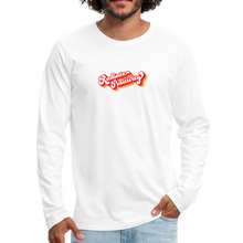 Load image into Gallery viewer, Radiate Positivity Men's Long Sleeve T-Shirt - white