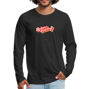 Radiate Positivity Men's Long Sleeve T-Shirt - black