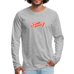 Radiate Positivity Men's Long Sleeve T-Shirt - heather gray