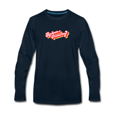 Load image into Gallery viewer, Radiate Positivity Men's Long Sleeve T-Shirt - deep navy