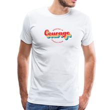 Load image into Gallery viewer, Breathe in Courage Men's T-Shirt - white