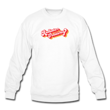 Load image into Gallery viewer, Radiate Positivity Plus Size Sweatshirt - white