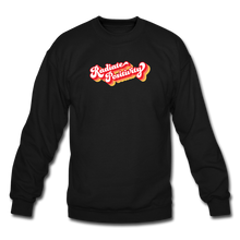 Load image into Gallery viewer, Radiate Positivity Plus Size Sweatshirt - black