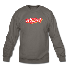 Load image into Gallery viewer, Radiate Positivity Plus Size Sweatshirt - asphalt gray