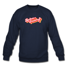 Load image into Gallery viewer, Radiate Positivity Plus Size Sweatshirt - navy
