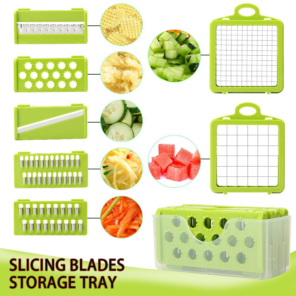 Vegetable Cutter Multifunctional All In One Fruit & vegetable Slicer Shredder