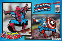 NYCC Captain America and Spider-Man set