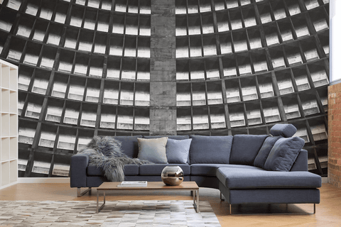 Brutalist Architecture Remade As Modern Wallpaper