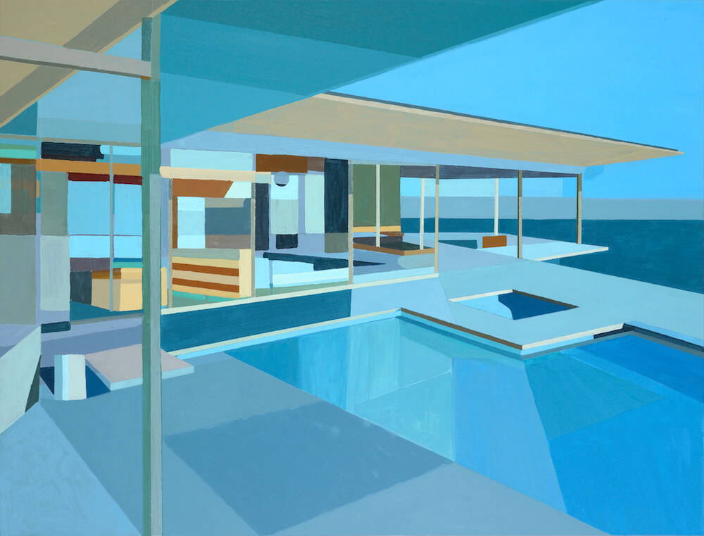 Immortalizing the Mid Century House: Paintings by Andy Burgess