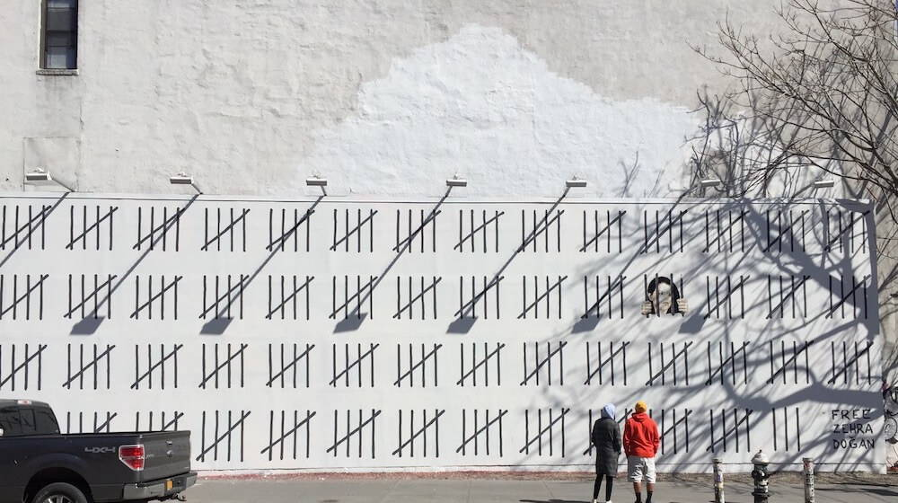 NYC Banksy Mural Honors Imprisoned Turkish Artist