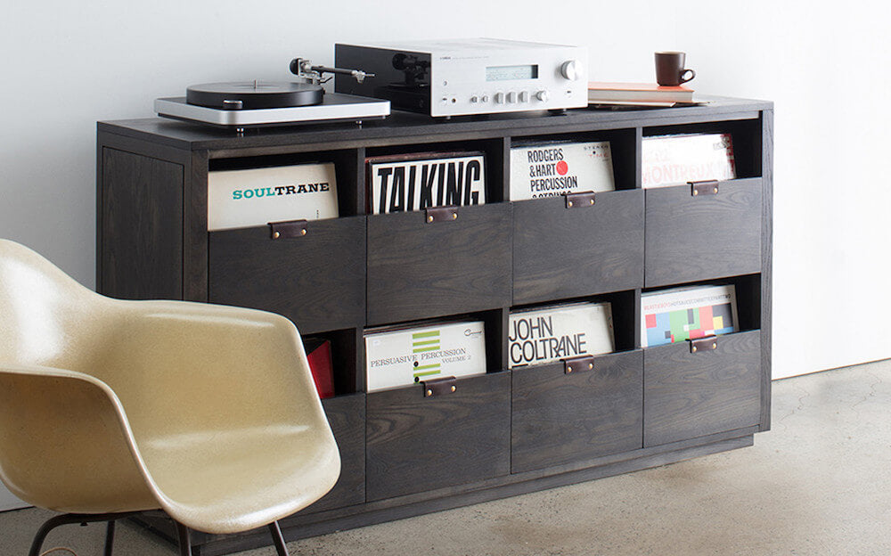 Dovetail Record Storage by Symbol Audio