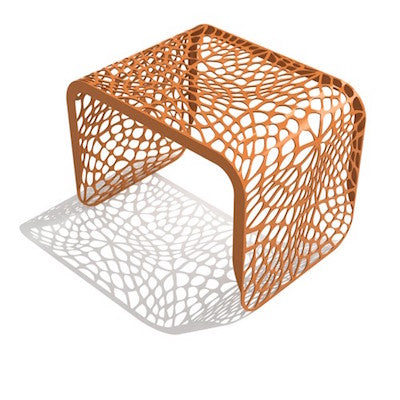 Arktura Coral Side Table in Orange