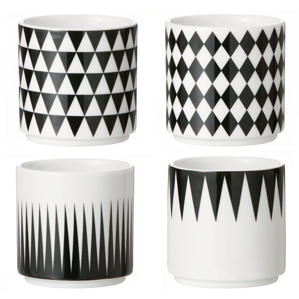 Ferm Living Geometric Espresso Cups in a Set of Four