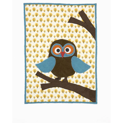 Ferm Living organic Owl Quilted Blanket