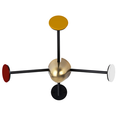 Gubi Mategot Wall Coat Rack in Black and Brass