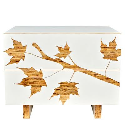 Iannone Design Trees Graphic Nightstand