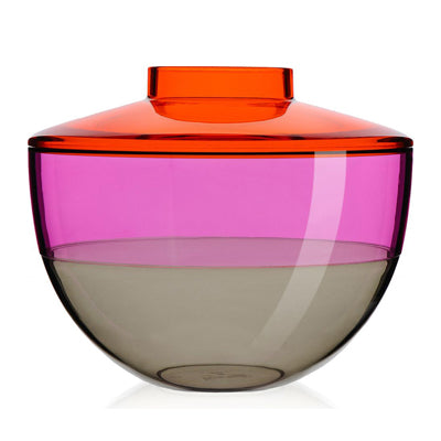 Kartell Shibuya Vase in Orange, Violet, and Smoke