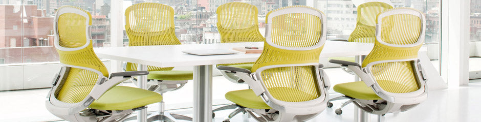 Knoll Office Chair featuring yellow office chairs