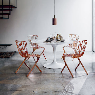 Knoll Washington Skeleton Aluminum Side Chairs