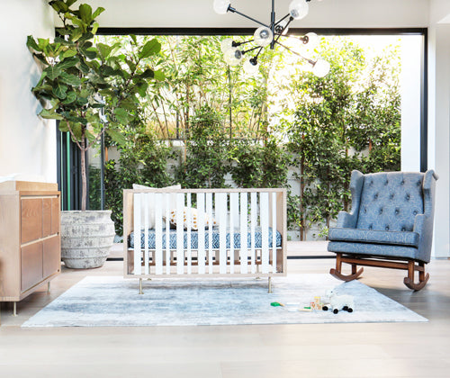 Novella Crib and Sleepytime Rocker, designed by Nursery Works