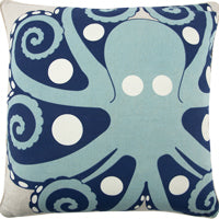 Amalfi Octopus Modern Pillow, designed by Thomaspaul