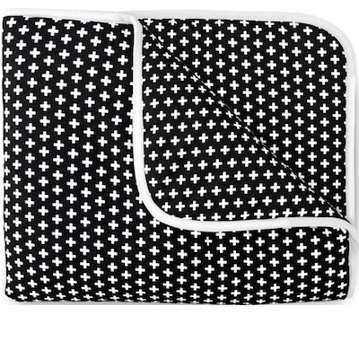 Olli & Lime black and white Cross Crib Quilt