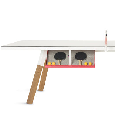 RS Barcelona You and Me Ping Pong Table in White