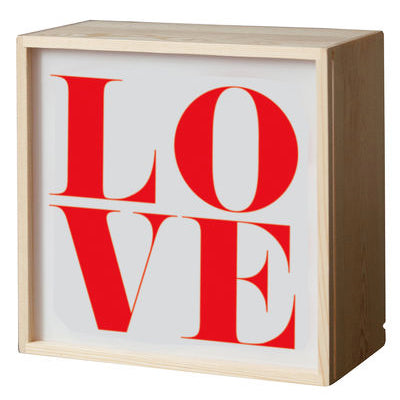 Seletti Lighthink Box Lamp with Love