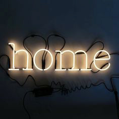 Seletti Neon Font Lamp with the word Home