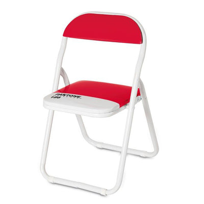 Seletti Pantone Metal Folding Chair in Red
