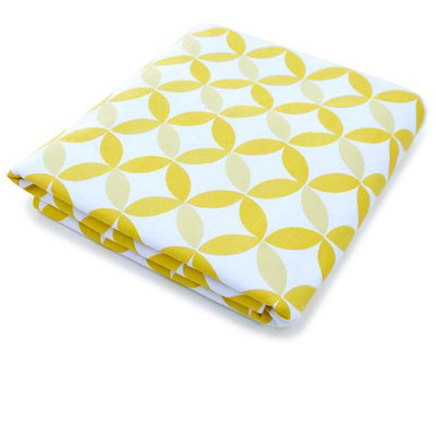 Spot on Square Tops Organic Fitted Crib Sheet Yellow