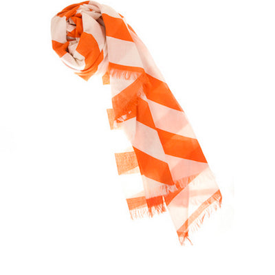 Thomaspaul Geo Metric Scarf in orange