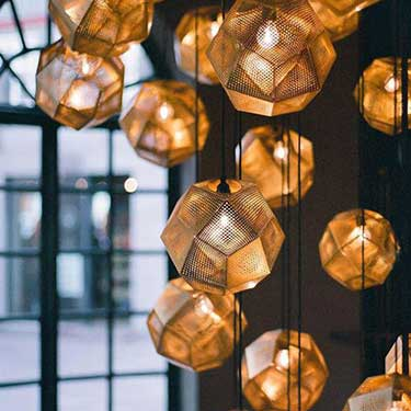 Tom Dixon Etch Pendants - Modern Metallic Trend