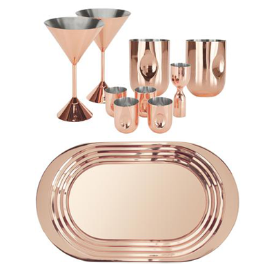 Tom Dixon Plum Barware Set in Copper