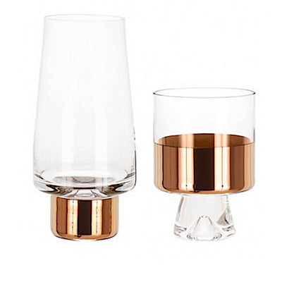 Tom Dixon low ball and high ball Tank Glasses