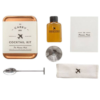 W & P Design Carry On Cocktail Kits, Bloody Mary, Moscow Mule, Hot Toddy, Old Fashioned