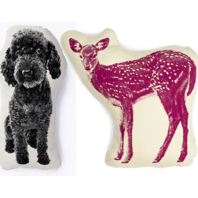 Areaware Animal Cushions, Poodle and Deer