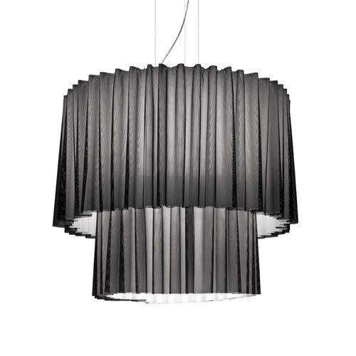 Lightecture Skirt Suspension 2 Tier Lamp in Light Grey