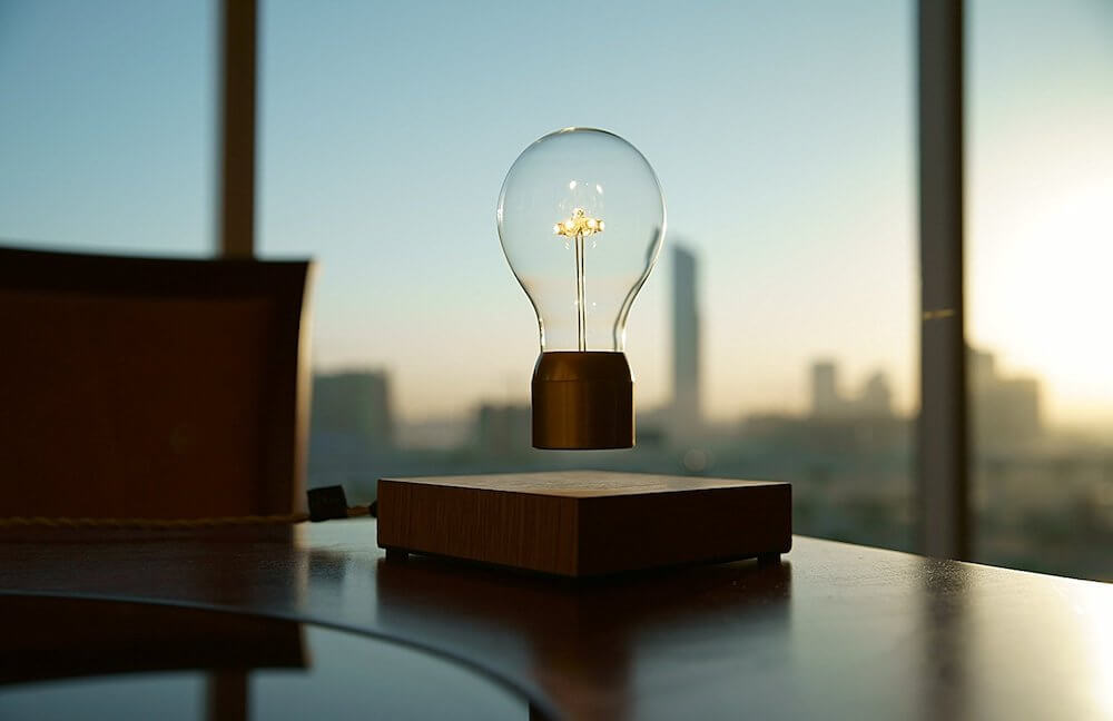Floating Lightbulbs by FLYTE Leverage Magnetic Levitation